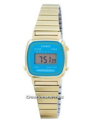 Casio Digital Stainless Steel Alarm Timer LA670WGA-2DF LA670WGA-2 Women's Watch