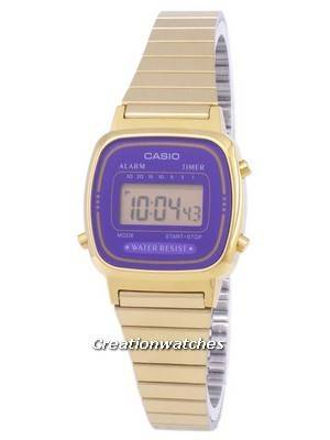 Casio Digital Stainless Steel Alarm Timer LA670WGA-6DF LA670WGA-6 Women's Watch