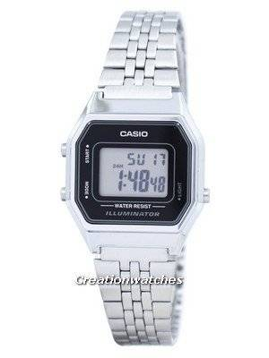 Casio Digital Quartz Illuminator LA680WA-1DF LA680WA-1 Women's Watch