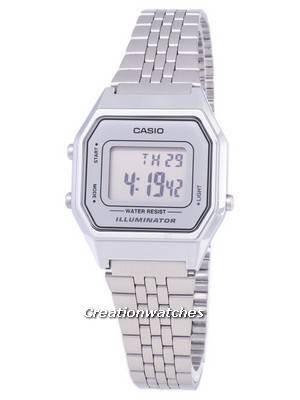 Casio Digital Quartz Stainless Steel Illuminator LA680WA-7DF LA680WA-7 Women's Watch