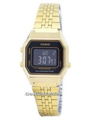 Casio Digital Quartz Stainless Steel Illuminator LA680WGA-1BDF LA680WGA-1B Women's Watch