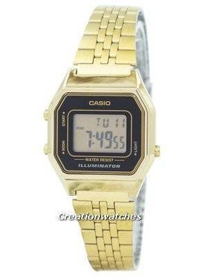 Casio Digital Quartz Stainless Steel Illuminator LA680WGA-1DF LA680WGA-1 Women's Watch