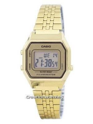 Casio Digital Quartz Stainless Steel Illuminator LA680WGA-9DF LA680WGA-9 Women's Watch