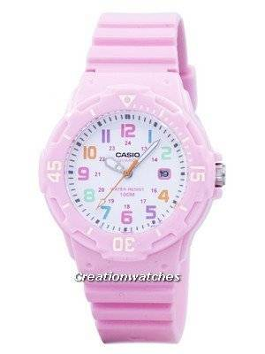 Casio Pink Resin Strap LRW-200H-4B2VDF LRW-200H-4B2V Women's Watch