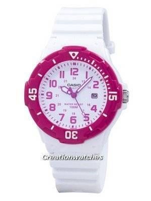 Casio Analog Hot Pink White Dial LRW-200H-4BVDF LRW-200H-4BV Women's Watch