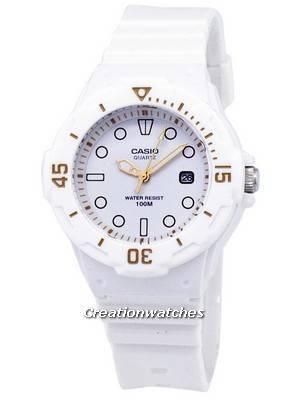 Casio Enticer Classic Analog White Dial LRW-200H-7E2VDF LRW-200H-7E2V Women's Watch