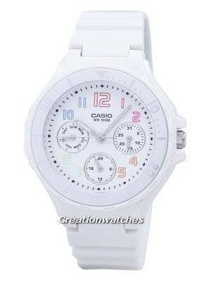 Casio Analogue White Resin Strap LRW-250H-7BVDF LRW250H-7BVDF Ladies Watch