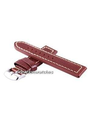 Brown Ratio Brand Leather Strap 22mm For SKX007, SKX009, SKX011, SRP497, SRP641