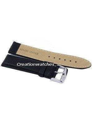 Black Ratio Brand Leather Strap 22mm