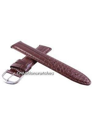 Brown Ratio Brand Leather Strap 20mm For SRP311, SRP581