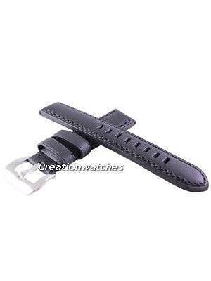 Black Ratio Brand Leather Strap 20mm For SRP311, SRP581