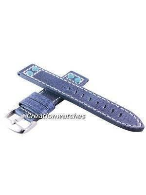 Blue Ratio Brand Leather Strap 20mm For SRP311, SRP581