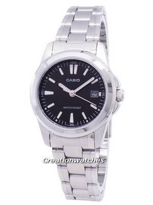 Casio Analog Quartz Black Dial LTP-1215A-1A2DF LTP-1215A-1A2 Women's Watch