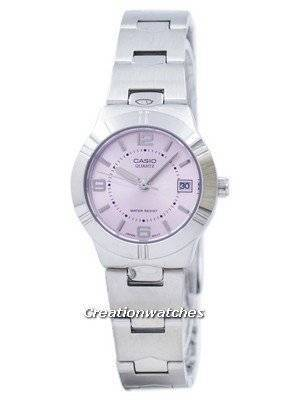 Casio Enticer Analog Quartz Pink Dial LTP-1241D-4ADF LTP-1241D-4A Women's Watch