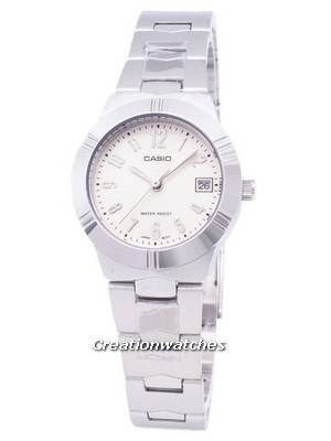 Casio Enticer Analog Quartz White Dial LTP-1241D-7A2DF LTP-1241D-7A2 Women's Watch