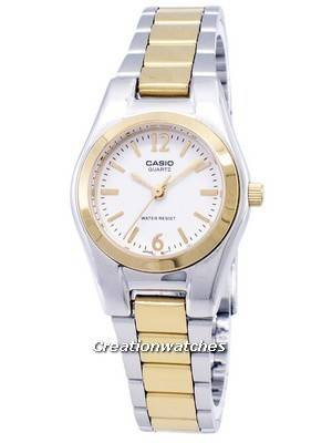 Casio Enticer Analog Quartz White Dial LTP-1253SG-7ADF LTP-1253SG-7A Women's Watch