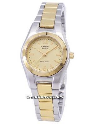 Casio Enticer Analog Quartz Gold Dial LTP-1253SG-9ADF LTP-1253SG-9A Women's Watch