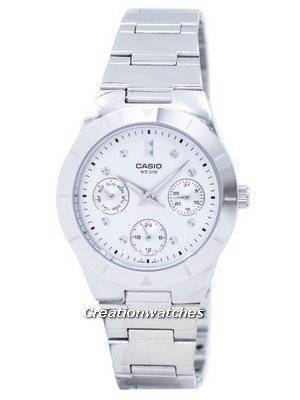 Casio Enticer Analog Quartz Silver Dial LTP-2083D-7AVDF LTP-2083D-7AV Women's Watch