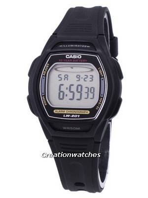 Casio Digital Alarm Chrono Illuminator LW-201-1AVDF Women's Watch