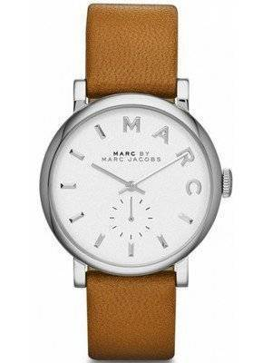 Marc By Marc Jacobs Baker White Dial Leather Band MBM1265 Women's Watch