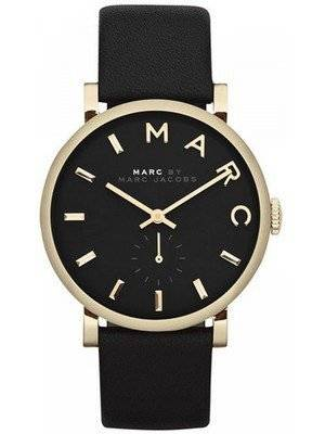 Marc By Marc Jacobs Baker Black Dial Leather Band MBM1269 Women's Watch