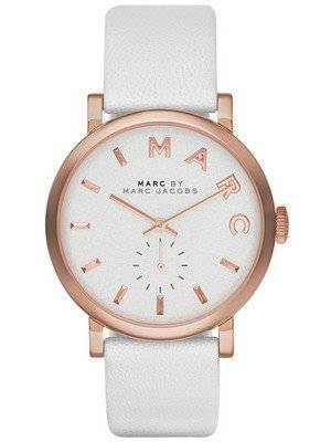 Marc By Marc Jacobs Baker White Dial Leather Band MBM1283 Women's Watch