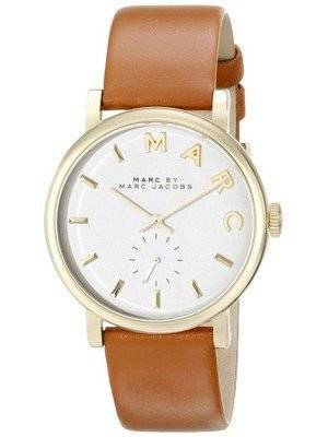 Marc By Marc Jacobs Baker White Dial Tan Leather MBM1316 Women's Watch