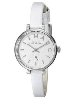 Marc By Marc Jacobs Sally White Dial White Leather Strap MBM1350 Women's Watch
