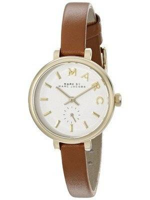 Marc By Marc Jacobs Sally White Dial Brown Leather Strap MBM1351 Women's Watch