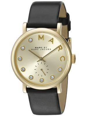 Marc by Marc Jacobs Baker Quartz Gold Tone Crystals MBM1399 Women's Watch
