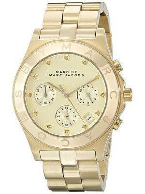 Marc By Marc Jacobs Blade Chronograph Gold Dial MBM3101 Women's Watch