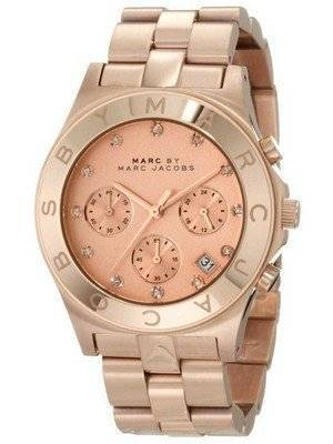 Marc By Marc Jacobs Blade Chronograph Rose Gold Dial MBM3102 Women's Watch