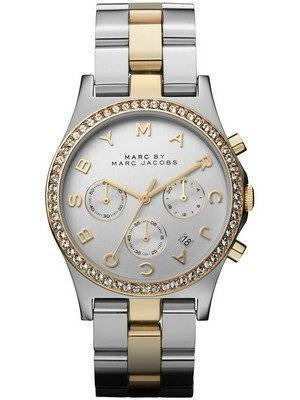 Marc By Marc Jacobs Henry Chronograph Crystals Silver Dial MBM3197 Women's Watch