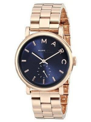 Marc By Marc Jacobs Baker Navy Dial Rose Gold-tone Steel MBM3330 Women's Watch