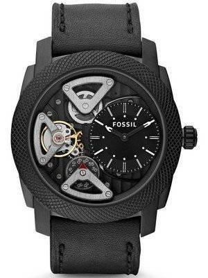 Fossil Mechanical Twist Black Leather ME1121 Men's Watch