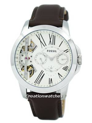 Fossil Grant Twist Multifunction Quartz Brown Leather Strap ME1144 Men's Watch