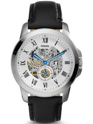 Fossil Automatic Grant Black Leather ME3053 Men's Watch