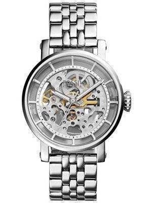 Fossil Original Boyfriend Automatic Skeleton Dial Stainless Steel ME3067 Women's Watch