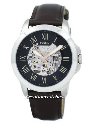 Fossil Grant Automatic Black Skeleton Dial ME3100 Men's Watch