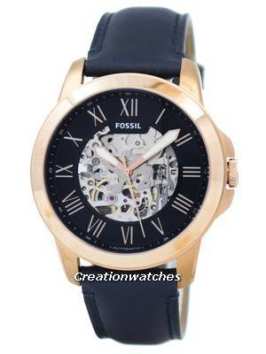 Fossil Grant Automatic Navy Blue Skeleton Dial ME3102 Men's Watch