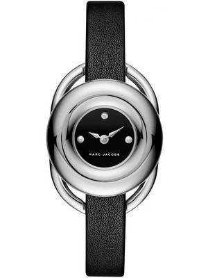 Marc by Marc Jacobs Jerrie Black Dial Leather Strap MJ1445 Women's Watch