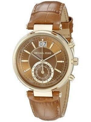 Michael Kors Sawyer Chronograph Amber Sunray Dial MK2424 Women's Watch