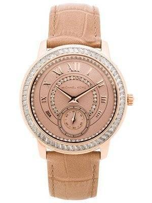 Michael Kors Madelyn Rose Gold Dial Beige Leather MK2448 Women's Watch