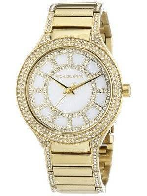 Michael Kors Kerry Crystal Accent Gold Tone MK3312 Women's Watch