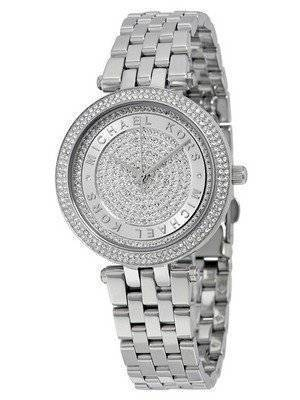 Michael Kors Mini Darci Crystal Pave Dial Stainless Steel MK3476 Women's Watch