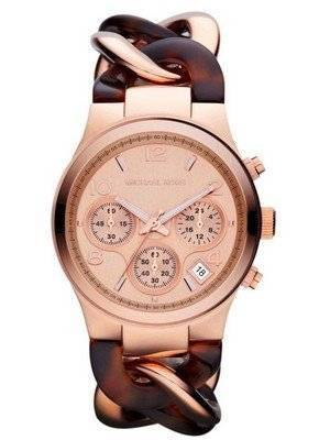 Michael Kors Runway Tortoise Twist Chain Link MK4269 Women's Watch