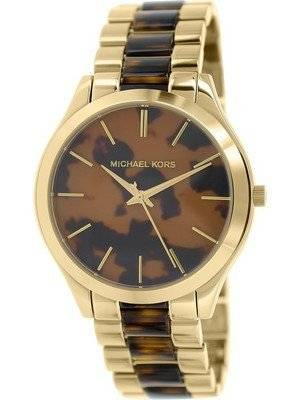 Michael Kors Slim Runway Tortoise Shell Dial MK4284 Women's Watch
