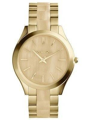Michael Kors Runway Gold Tone Horn Dial MK4285 Women's Watch
