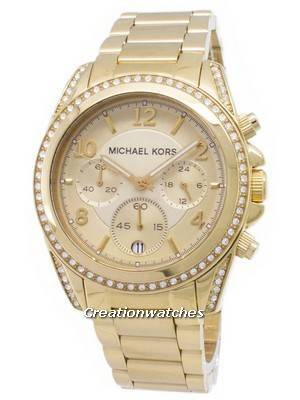 Michael Kors Golden Runway Glitz Chronograph MK5166 Women's Watch