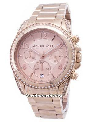 Michael Kors Rose Gold Plated Blair Glitz MK5263 Women's Watch